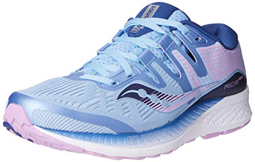 Saucony Women's Ride ISO Shoes, Blue/Navy/Purple, 8.5