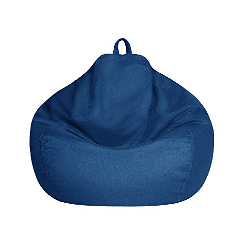Sitzsack Hülle Ohne Füllung, Bean Bag Chair Cover, Sessel Bezug Waschbar, mit Robust Reißverschluss, Faul Lounge Beanbag Sofa Cover für Erwachsenen und Kinder in S, M, L
