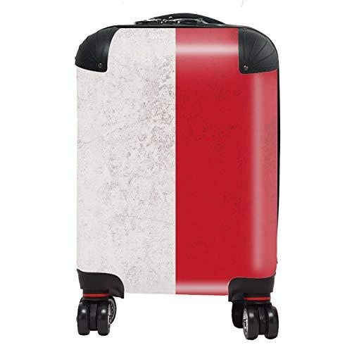 Vlag Monaco vlag West-Europa koffer kinderen cabine met TSA Lock 4 draaibare wielen bagage tas 46 cm 29 ltr