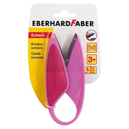 Eberhard Faber 579928 - Forbici per bambini per mancini e destrorsi, ideali per tagliare e bricolage con bambini, colore: Rosa