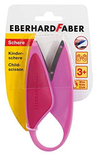 Eberhard Faber 579928 Kinderschere für Linkshänder und Rechtshänder, optimal zum Schneiden und Basteln mit Kleinkindern, pink
