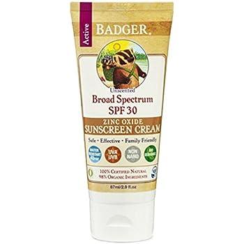 Badger Sunstech creen Creams 30 parfümfrei – Protección Solar Crema, 1er Pack (1 x 87 g): Amazon.es: Belleza