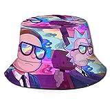 Rick Morty Sombrero de Pescador Verano Protección UV Sombreros de Cubo de Viaje Gorra de Sol Plegable de Playa para...