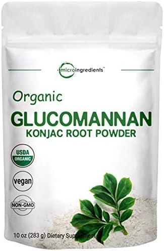 Organic Glucomannan Konjac Root Powder Konjac Gel Powder 10 Ounce Supports Regularity and Healthy product image