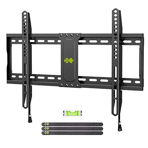 USX Mount - Soporte de Pared para televisores de Pantalla Plana y LCD de 37 a 70 Pulgadas, con VESA de hasta 600 x 400 mm y Capacidad de Peso de 132lbs, Perfil bajo, Fijo y Ahorro de Espacio