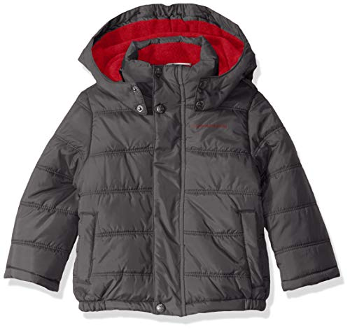 Calvin Klein Boys' Little Eclipse Bubble Jacket, Grey, 6