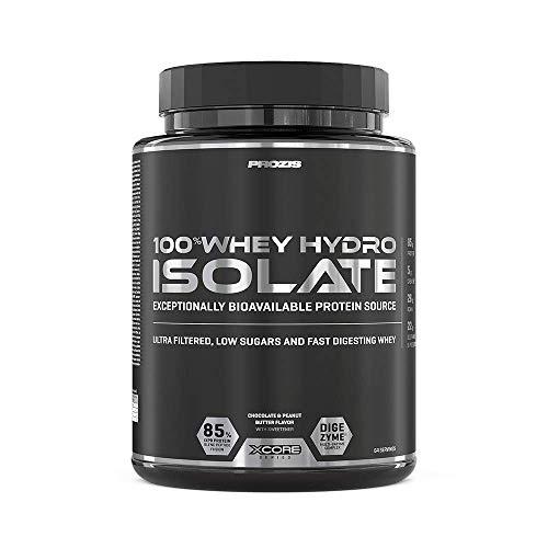 Prozis 100% Whey Hydro Isolate SS Proteine, 2000 g, Cioccolato e Burro di Arachidi