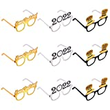 🥳PACKAGE INCLUDES -- 100% brand new and high quality new year party eyeglasses. This large pack includes 9pcs party glasses, 3 colors in total, 3pcs for each. 🥳NEW YEAR PARTY GLASSES -- Funny photo props including Happy New Year elements at the festi...