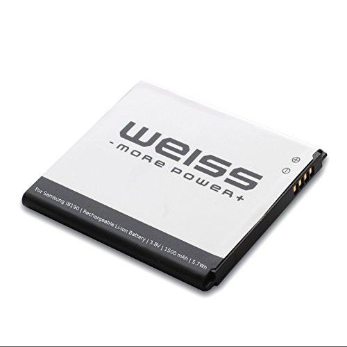 Weiss - More Power + accu per Samsung Galaxy S3 mini GT-I8190 / Ace 2 (GT-I8160 / GT-I8160P) / S Duos (GT-S7562 / GT-S7560) 1500mAh [sostituito: EB425161LU / EBF1M7FLU / EB-B130BE] Li-Ion