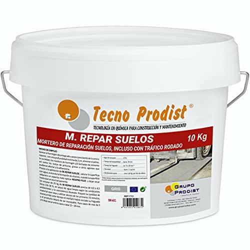 M-REPAR SUELOS de Tecno Prodist – (10 kg) Mortero de reparación suelos hormigón o cemento, incluso con tráfico rodado (transitable por vehículos en 2 horas)
