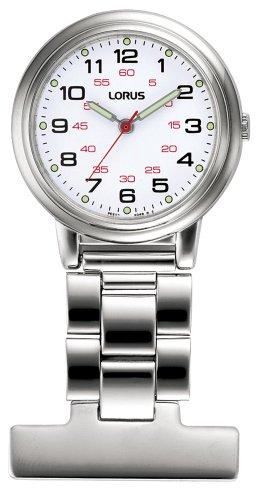 Lorus Unisex Professional White Dial Nurses Fob Watch RG251CX9