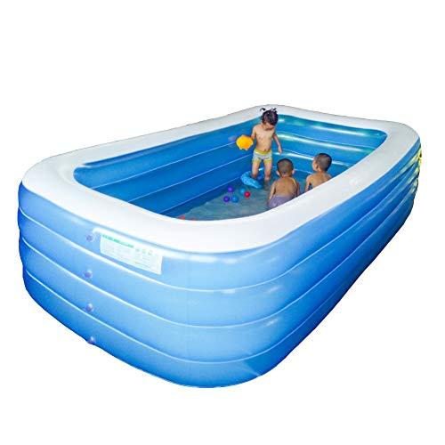 Piscina Grande Hinchable para Adultos/niños, Fiesta en la Piscina en el jardín de Verano, Piscina al Aire Libre (305 * 185 * 72 cm)