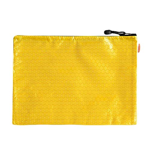 DaoDai Briefcase Conference Travel Zipper Waterproof Insert File Bag 12 Layer Oxford Cloth Organ Bag IPad Handbag Storage for Holiday and Office (Yellow)