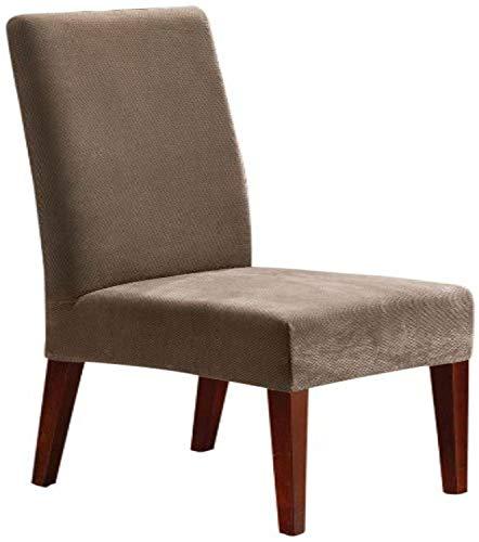 Sure Fit SF36848 Piqué Funda para silla de comedor, Marrón topo