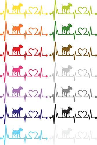 Herzlinien Aufkleber Bullterrier