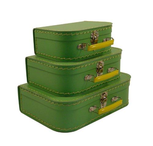 cargo Vintage Travelers Mini Suitcases, Set of 3, Soft Green
