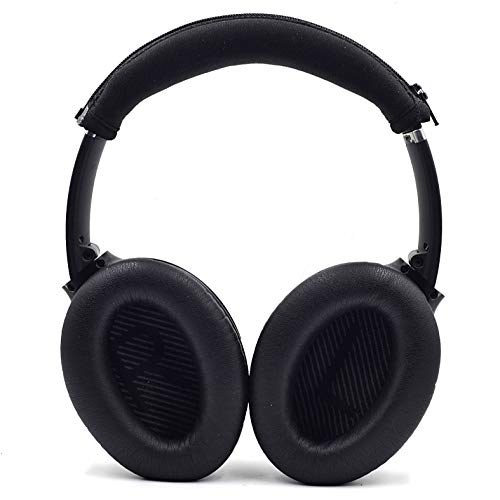 Defean Replacement Headphone Headband Cover for Bose Quiet Comfort 35 (QC35) and QuietComfort 35 II (QC35 II) QC15 QC25 Headphones (Black Protective Cover)