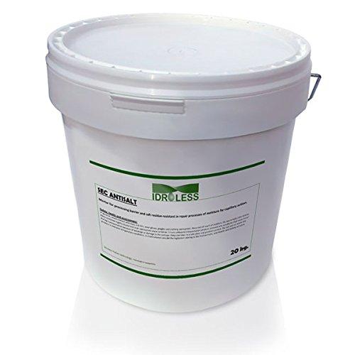 Mortero Sec Antisales evita las manchas de salinidad en paredes - Idroless (5 kgs)