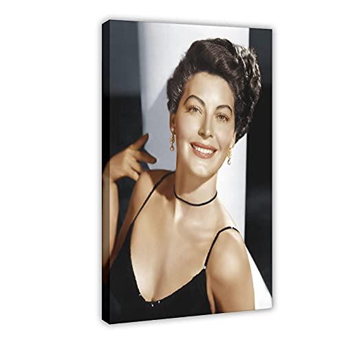 Vintage Beauty Poster Ava Lavinia Gardner 15 Leinwand Poster Wandkunst Dekor Druck Bild Gemälde für Wohnzimmer Schlafzimmer Dekoration Rahmen: 60 x 90 cm