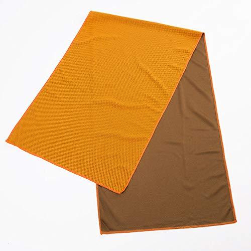 TAOtTAO_Sticker Handtuch Schnell Trocknendes Handtuch Kalt Sinn Handtuch Sport Kühltuch Cool EIS Seide Sport Eiskalt Handtuch 30 * 90cm nacktes Handtuch (50 Stück/Beutel) Orange