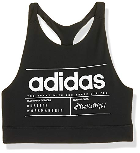adidas Damen BB Sport-BH, Black/White, M