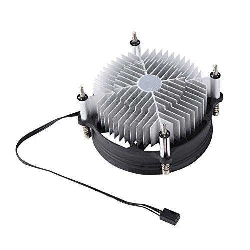 Ventilador de Refrigeración de CPU,Rodamiento Hidráulico Ventilador de Enfriamiento de Aluminio,12V DC Radiador CPU Aluminio Universal Dispador Rapido,Ventilador de Radiamiento Silencioso