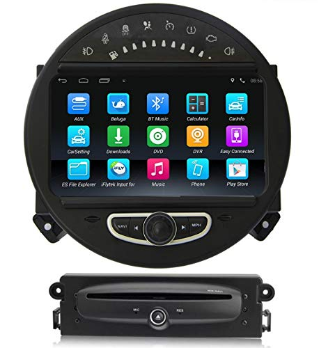 Sunshine Fly Android 9.0 Quad core 1024 * 600 Kapazitiver Touchscreen 2 DIN Auto DVD GPS Radio Stereo Für Cooper 2006-2013 GPS Audio DVD Player Bluetooth WiFi 3G