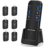 Key Finder, Stick on Remote Finder Locator Tags   6 Pack Wireless Wallet Car Key & TV Remote Control Finder, 95dB RF Beeper Key Finders That Make Noise   Item Finder Remote Tracker for Phone & Glasses