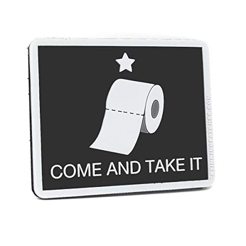 Come and Take It Toilet Paper PVC Hook and Loop Patch | Funny Tactical Patch