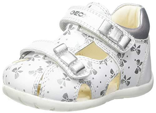 Geox B Kaytan B, Sandalias Bebé-Niños, White/Silver, 19 EU