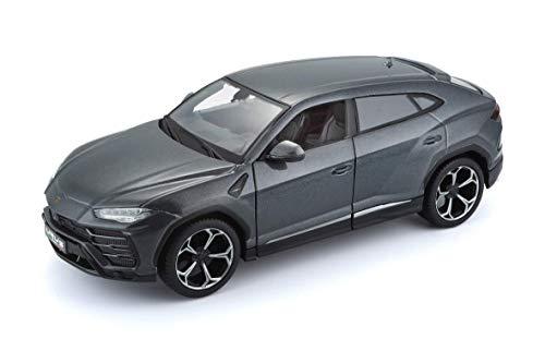 Maisto Lamborghini ~s: getrouw modelauto in schaal 1:24, beweegbare deuren, koffer-/motorruimte te openen, 20 cm, grijs (531519)