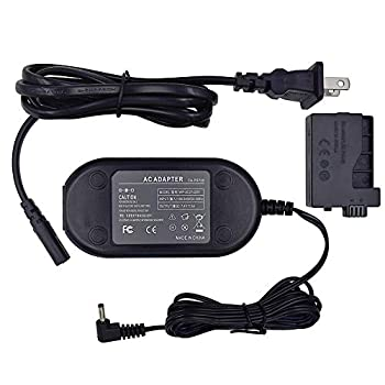 TKDY ACK-E5 AC Power Adapter DR-E5 DC Coupler Charger Kit for Canon EOS Rebel XSi XS T1i 450D 500D 1000D Kiss F X2 X3 DSLR Cameras.