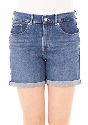 Levis® dames jeans Short Classic - Blauw - Haiwaii Shore maat W24-W32 jeansshort 79% katoen korte broek