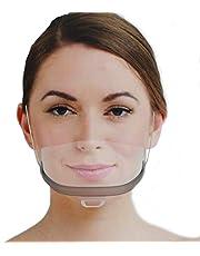 Urhome Gezichtsvizier van kunststof, universeel gezichtsbescherming, vizier voor bescherming tegen vloeistoffen