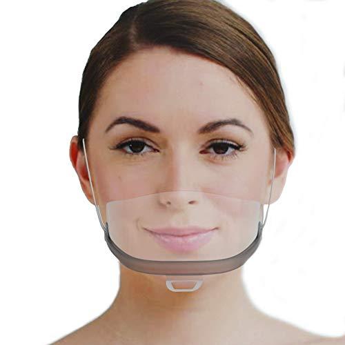 Urhome 10 x Gesichtsvisier aus Kunststoff | Schutzvisier in Transparent | Universal Gesichtsschutz | Visier zum Schutz vor Flüssigkeiten | Face Shield für Mund Nase