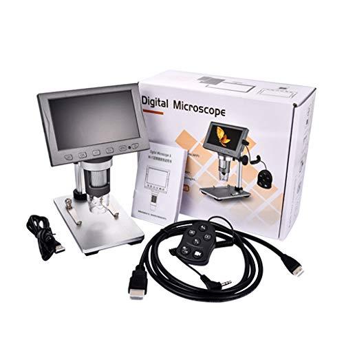 DAIMANPU Microscopio Digital LCD de 4.5'Aumento de 500X, Microscopio de Video 1080P con Soporte de Metal, Compatible con WiFi y HDMI, Enfoque ultrapreciso, Vista de PC, Compatible con Windows/Mac OS