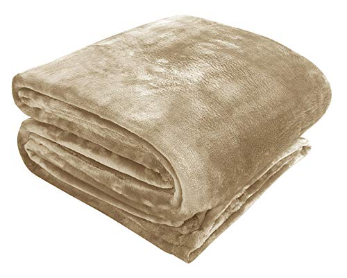 Cobertor SHINE Zelo Microfibra Queen - Gramatura: 300g/m² - Sépia
