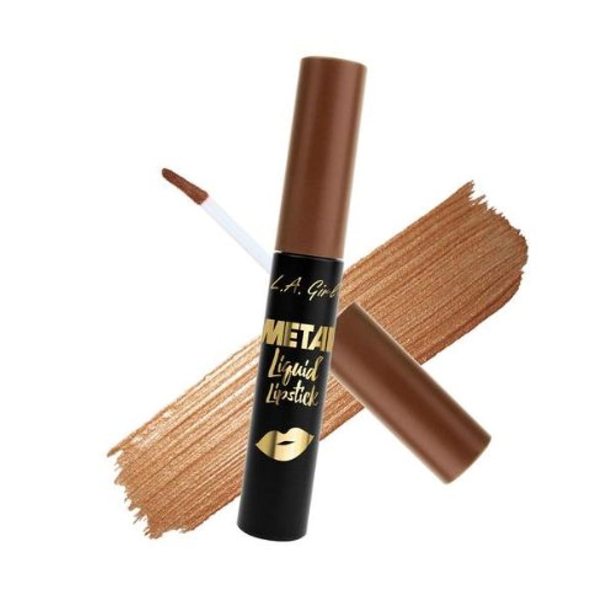 予防接種する手段出発(3 Pack) L.A. GIRL Metal Liquid Lipstick - Satin Gold (並行輸入品)