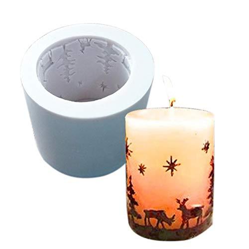Silikon Kerzenform Gießen 3D Weihnachten Baum Deer Kerzen Formen Für DIY Handgemachte Kerzen Seife Ornament