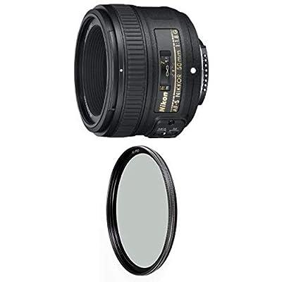 Nikon 50mm f/1.8G Auto Focus-S NIKKOR FX Lens w/ B+W 58mm XS-Pro HTC Kaesemann Circular Polarizer by