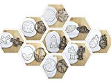 WELTRAUM Set(9st) Meteorit/Erde/Mond/Astronaut/Satellit/UFO/Alien/Mars/Rakete Cookie Cutter Fondant Keksstempel/Ausstechform Keksausstecher Plätzchen ca. 8cm