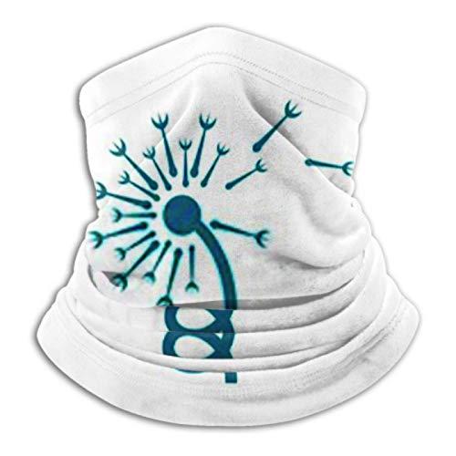 AEMAPE Calentador de Cuello, Polaina de Cuello, Calentador de Orejas, Diadema, Logotipo de Diente de león, Bufanda de versatilidad
