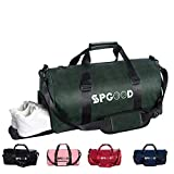 SPGOOD Sporttasche Handgepäck Wasserdicht 30L Reisetasche mit Schuhfach und Schultergurt für Übernachtung Reisen Sport Gym Urlaub Taschen Trainingstasche Fitnesstasche Gym-Tasche (Dunkelgrün)