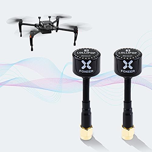 2pcs FPV Antena Foxeer Lollipop V3 RP-SMA Antenas Macho 5.8G 2.3dBi RHCP Super Mini TX RX Antena Omnidireccional RP-SMA Macho para RC FPV Racing Drone Multicopter