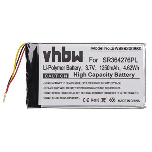 vhbw Akku passend für Becker Active.5 LMU, BE B10, BE B20, BE B60, Professional.5 LMU, Ready.5 LMU GPS Navigation Navi (1250mAh, 3.7V, Li-Polymer)