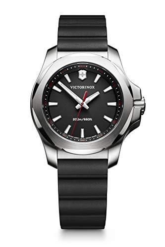 Victorinox Swiss Army Women's I.N.O.X. Stainless Steel Swiss-Quartz Watch with Rubber Strap, Black, 18 (Model: 241768)