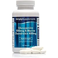 Glucosamina 500mg y Condroitina 400mg - 120 Cápsulas - SimplySupplements
