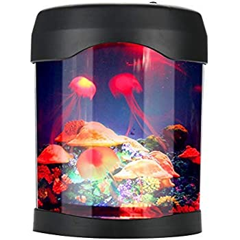 USB LED Mini Desktop Artificial Jellyfishes Lamp Color Changing Light Effects Aquarium Mood Lamp