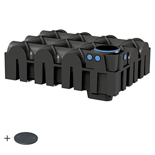 PREMIER TECH AQUA GmbH Zisterne 5000 Liter Basic Flachtank F-LINE inkl. Deckel TopCover - das Original - Kunststoff, Kunststoffzisterne, Komplettset
