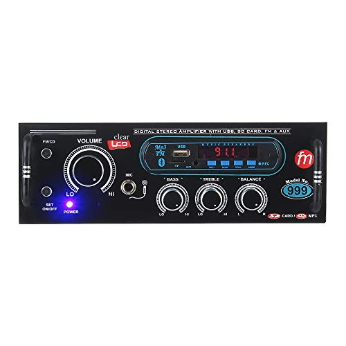 Gadget Deals 5500W PMPO Home DJ Amplifier with Bluetooth, FM and USB Player